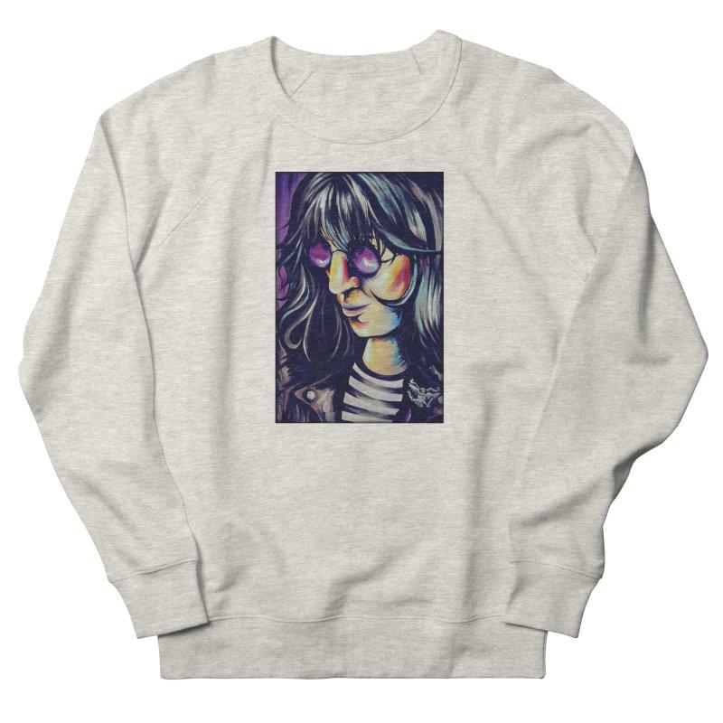 Joey Ramone Women's French Terry Sweatshirt by amybelonio's Artist Shop