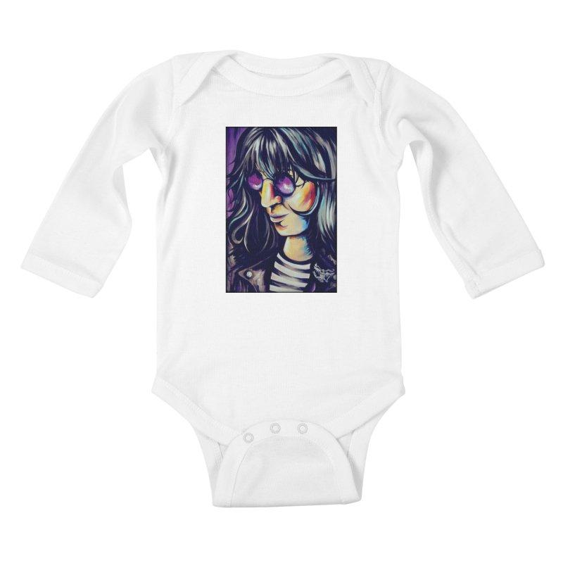 Joey Ramone Kids Baby Longsleeve Bodysuit by amybelonio's Artist Shop
