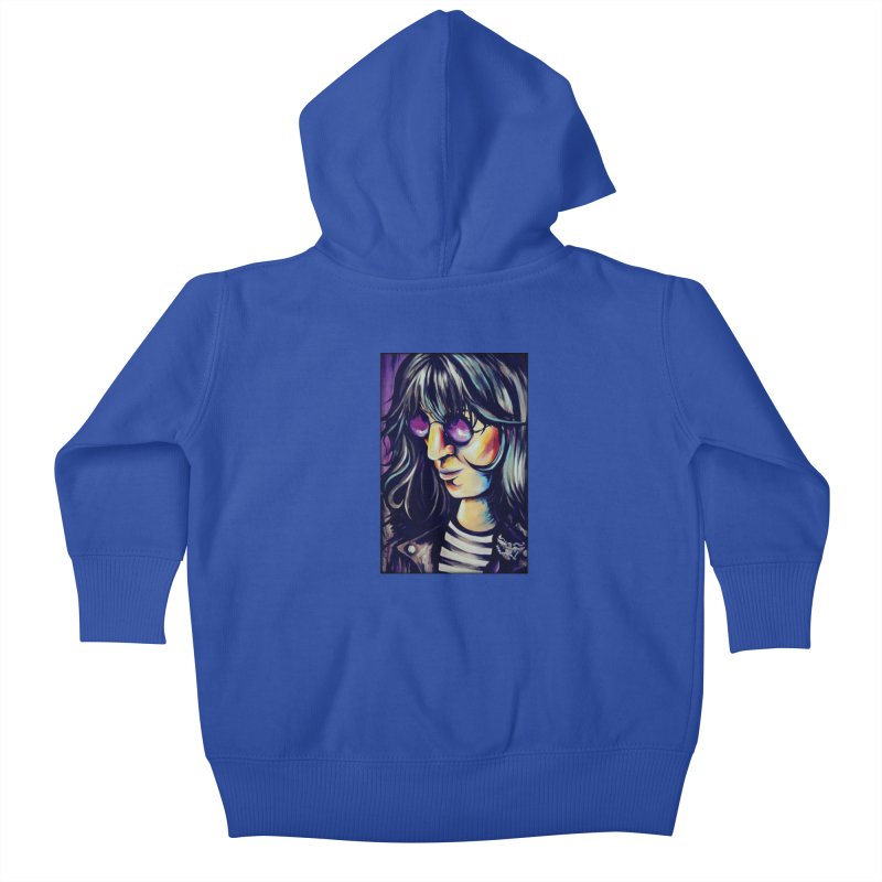 Joey Ramone Kids Baby Zip-Up Hoody by amybelonio's Artist Shop