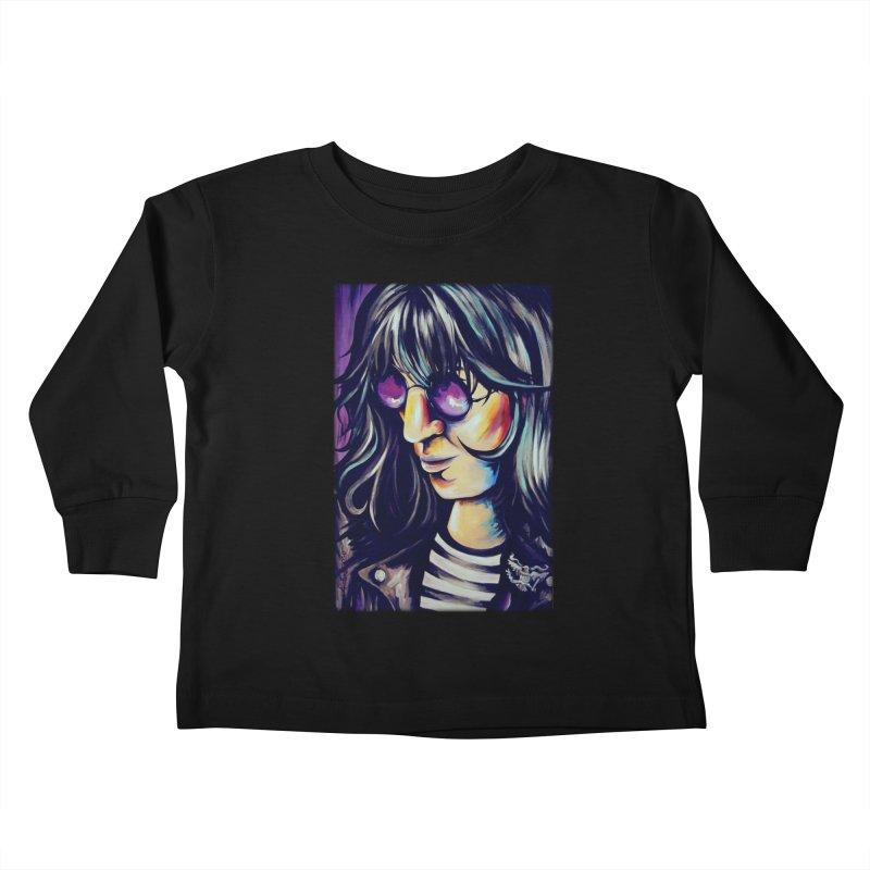 Joey Ramone Kids Toddler Longsleeve T-Shirt by amybelonio's Artist Shop