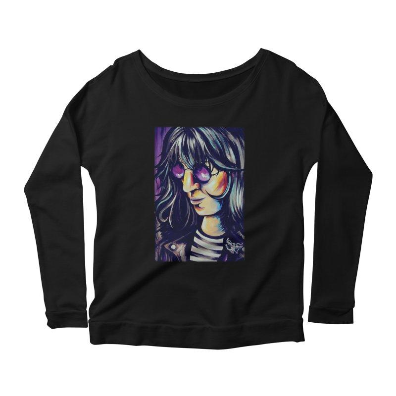 Joey Ramone Women's Scoop Neck Longsleeve T-Shirt by amybelonio's Artist Shop