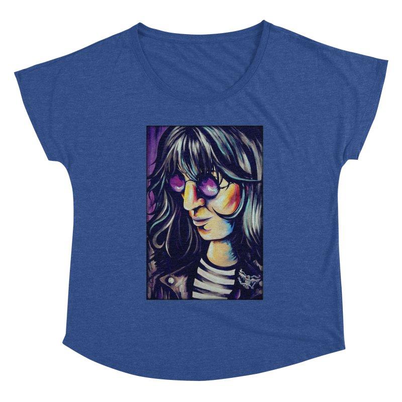 Joey Ramone Women's Dolman Scoop Neck by amybelonio's Artist Shop