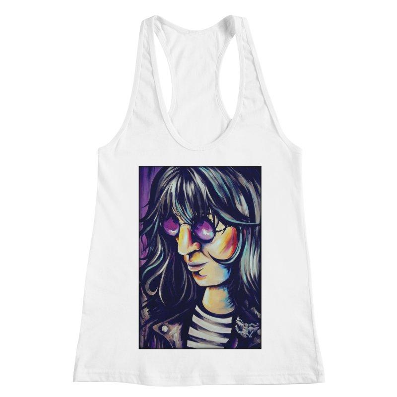 Joey Ramone Women's Racerback Tank by amybelonio's Artist Shop