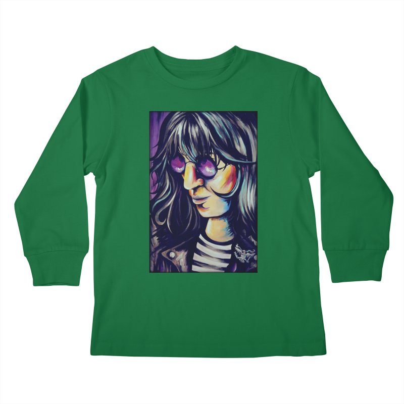 Joey Ramone Kids Longsleeve T-Shirt by amybelonio's Artist Shop
