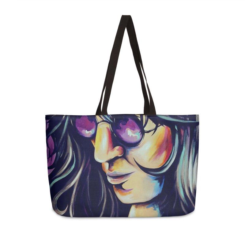 Joey Ramone Accessories Weekender Bag Bag by amybelonio's Artist Shop