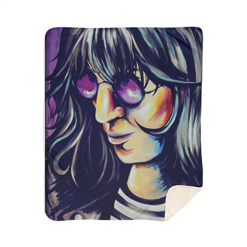 Joey Ramone Home Sherpa Blanket Blanket by amybelonio's Artist Shop