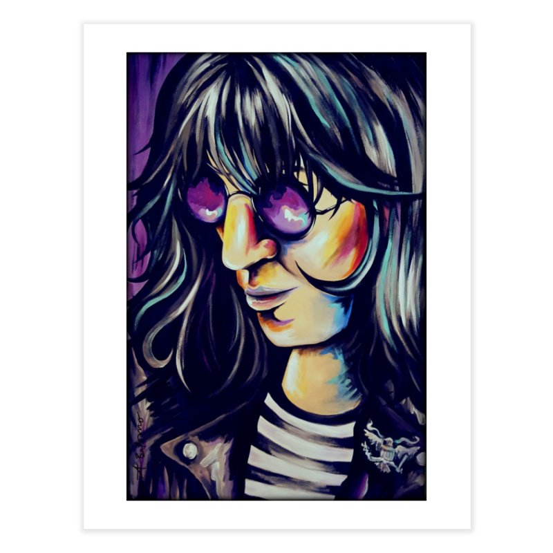 Joey Ramone Home Fine Art Print by amybelonio's Artist Shop