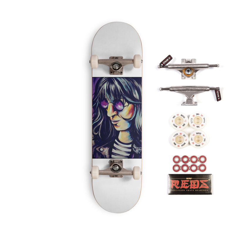 Joey Ramone Accessories Complete - Pro Skateboard by amybelonio's Artist Shop