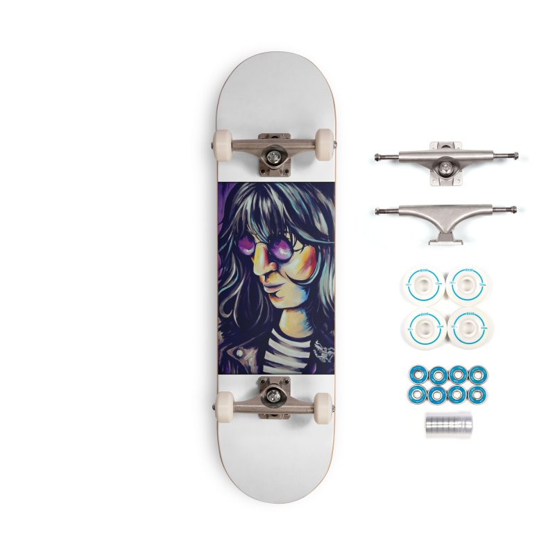 Joey Ramone Accessories Complete - Basic Skateboard by amybelonio's Artist Shop