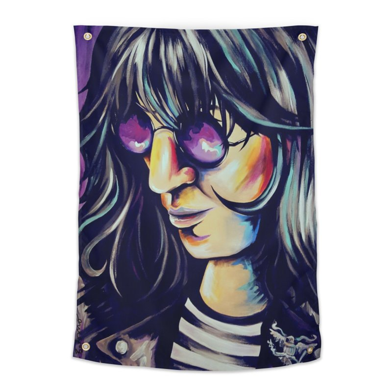 Joey Ramone Home Tapestry by amybelonio's Artist Shop
