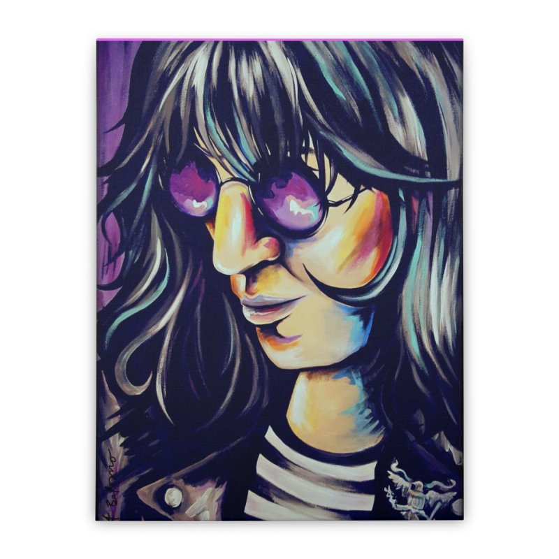Joey Ramone Home Stretched Canvas by amybelonio's Artist Shop