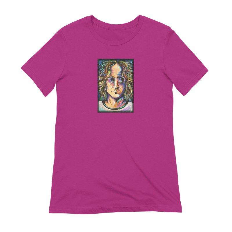 John Lennon Women's Extra Soft T-Shirt by amybelonio's Artist Shop