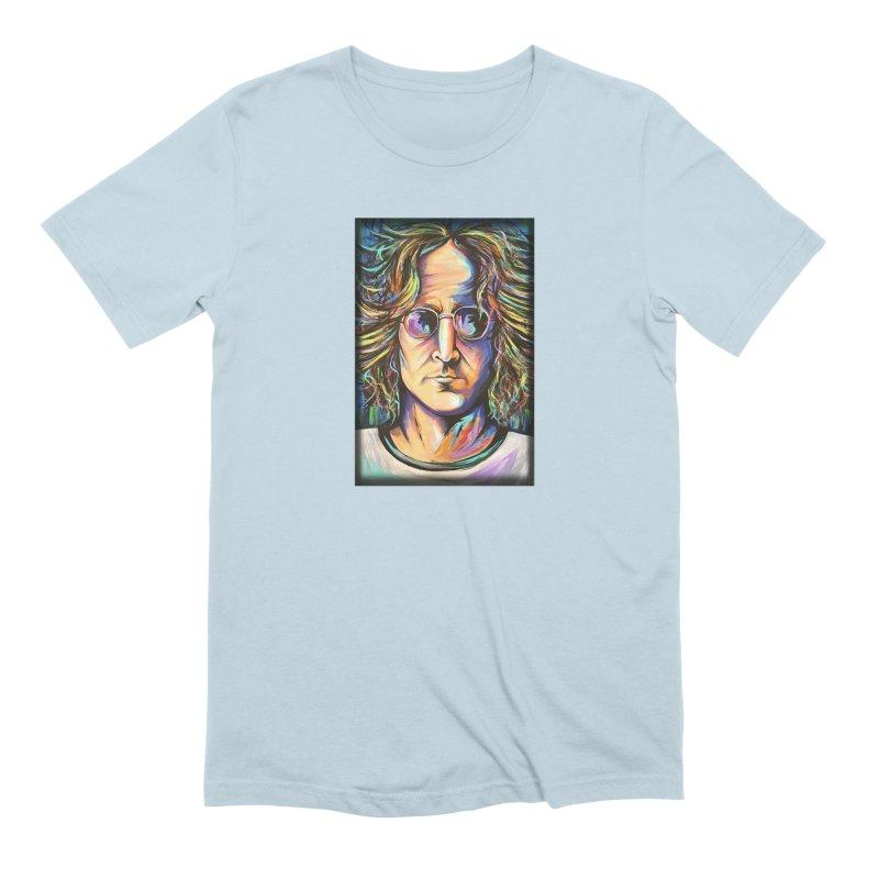 John Lennon Men's Extra Soft T-Shirt by amybelonio's Artist Shop