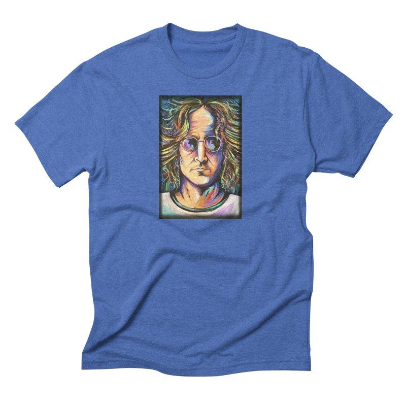 John Lennon Men's T-Shirt by amybelonio's Artist Shop