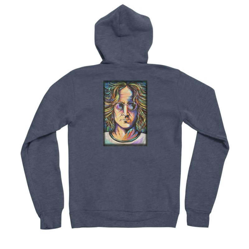 John Lennon Men's Sponge Fleece Zip-Up Hoody by amybelonio's Artist Shop