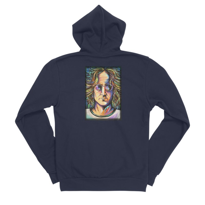 John Lennon Women's Sponge Fleece Zip-Up Hoody by amybelonio's Artist Shop