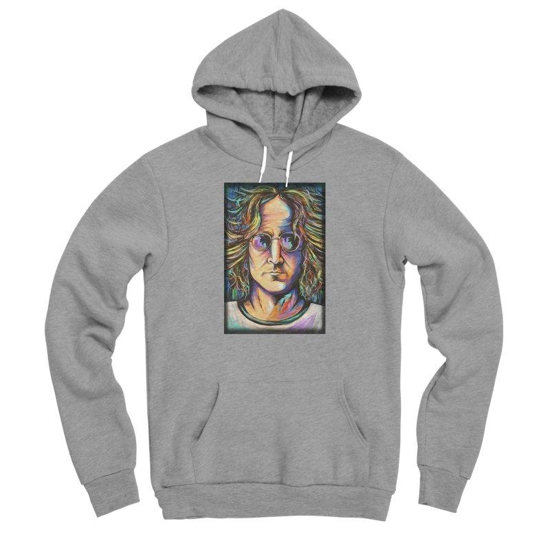 John Lennon Women's Sponge Fleece Pullover Hoody by amybelonio's Artist Shop