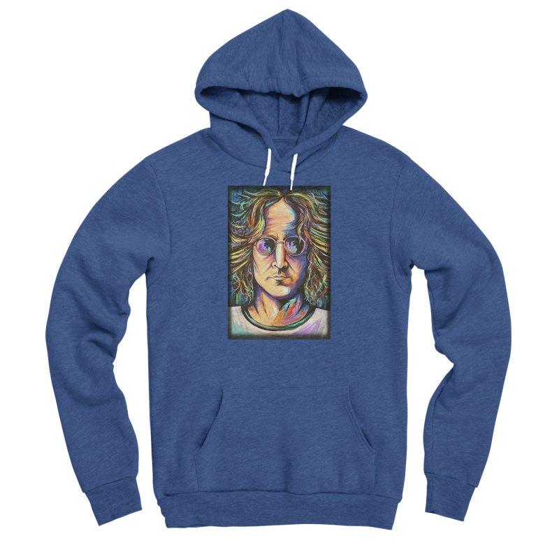 John Lennon Men's Sponge Fleece Pullover Hoody by amybelonio's Artist Shop