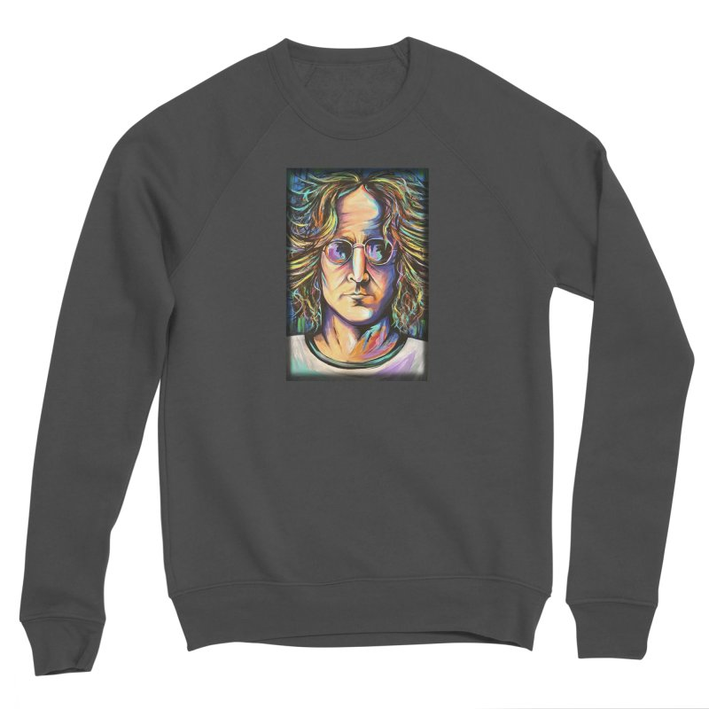 John Lennon Men's Sponge Fleece Sweatshirt by amybelonio's Artist Shop