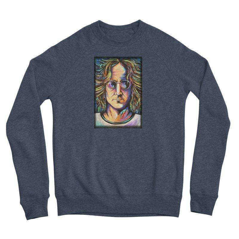 John Lennon Women's Sponge Fleece Sweatshirt by amybelonio's Artist Shop