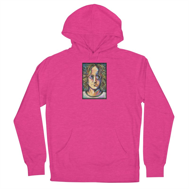John Lennon Women's French Terry Pullover Hoody by amybelonio's Artist Shop
