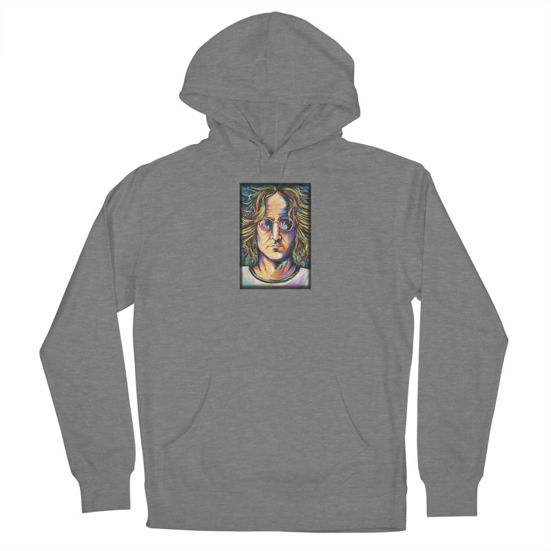 John Lennon Men's French Terry Pullover Hoody by amybelonio's Artist Shop