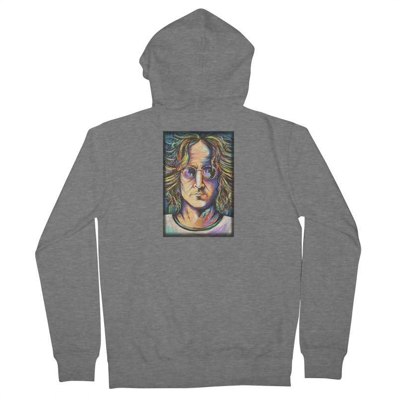 John Lennon Women's French Terry Zip-Up Hoody by amybelonio's Artist Shop