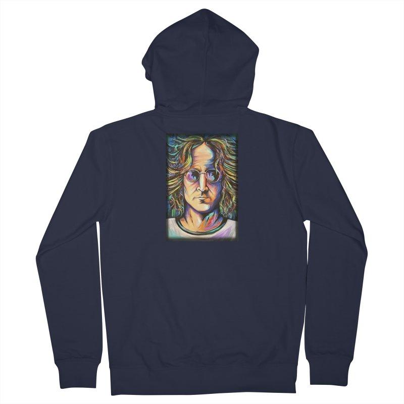 John Lennon Women's French Terry Zip-Up Hoody by amybelonio's Artist Shop