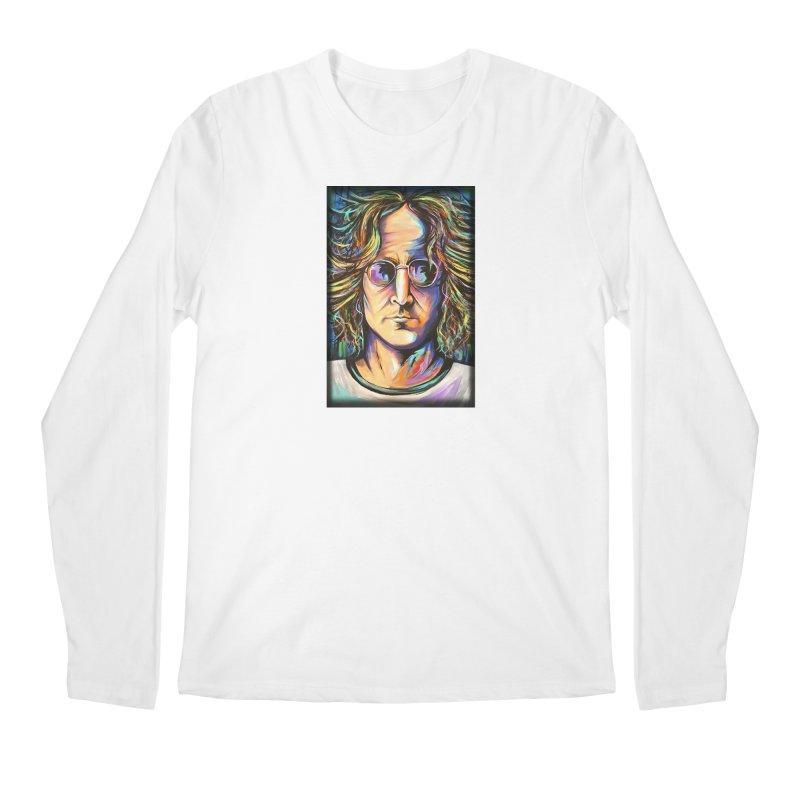 John Lennon Men's Regular Longsleeve T-Shirt by amybelonio's Artist Shop