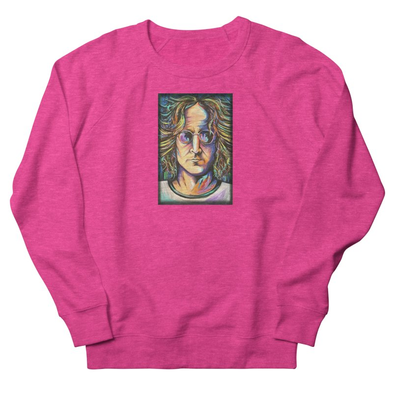 John Lennon Women's French Terry Sweatshirt by amybelonio's Artist Shop