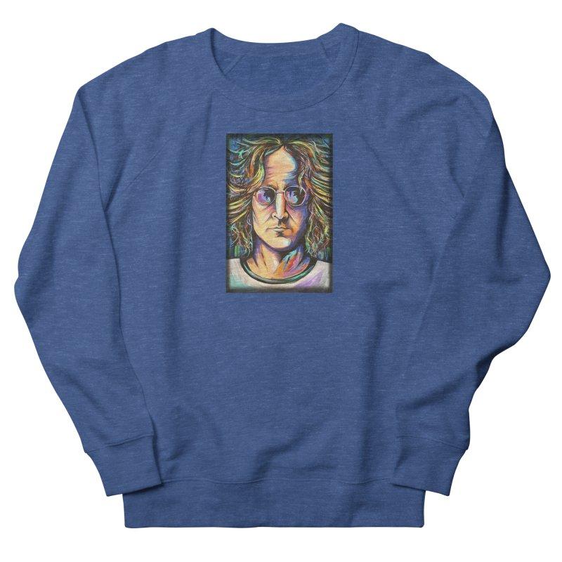 John Lennon Men's Sweatshirt by amybelonio's Artist Shop