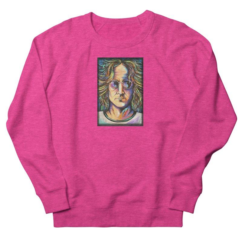 John Lennon Men's French Terry Sweatshirt by amybelonio's Artist Shop