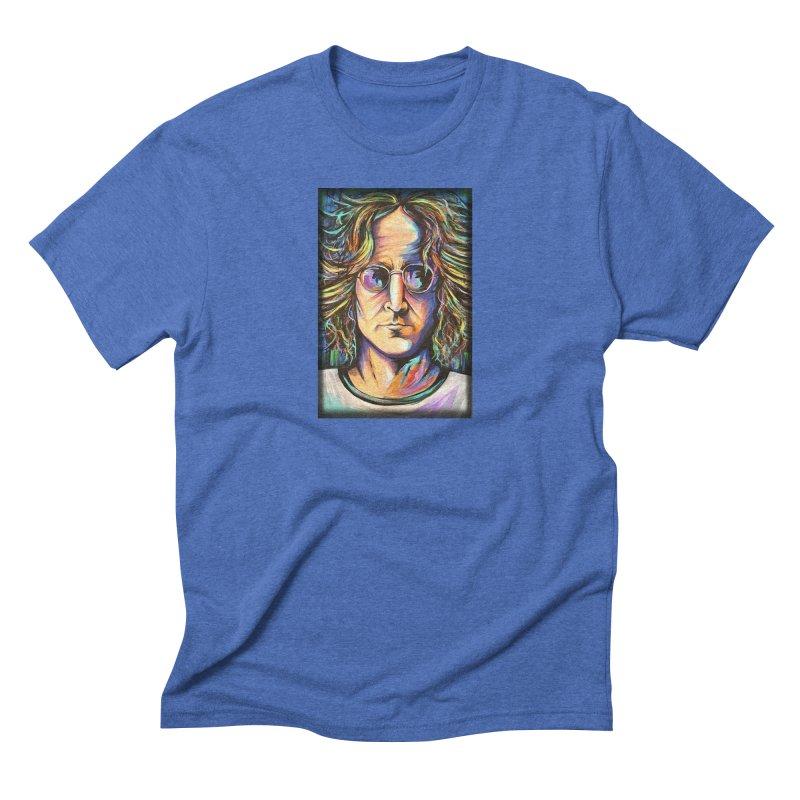 John Lennon Men's Triblend T-Shirt by amybelonio's Artist Shop