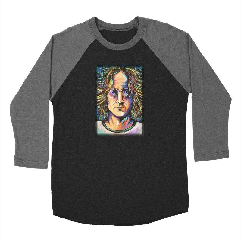 John Lennon Men's Baseball Triblend Longsleeve T-Shirt by amybelonio's Artist Shop