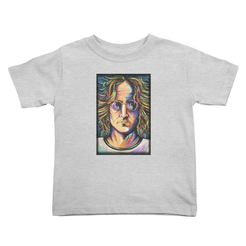 John Lennon Kids Toddler T-Shirt by amybelonio's Artist Shop