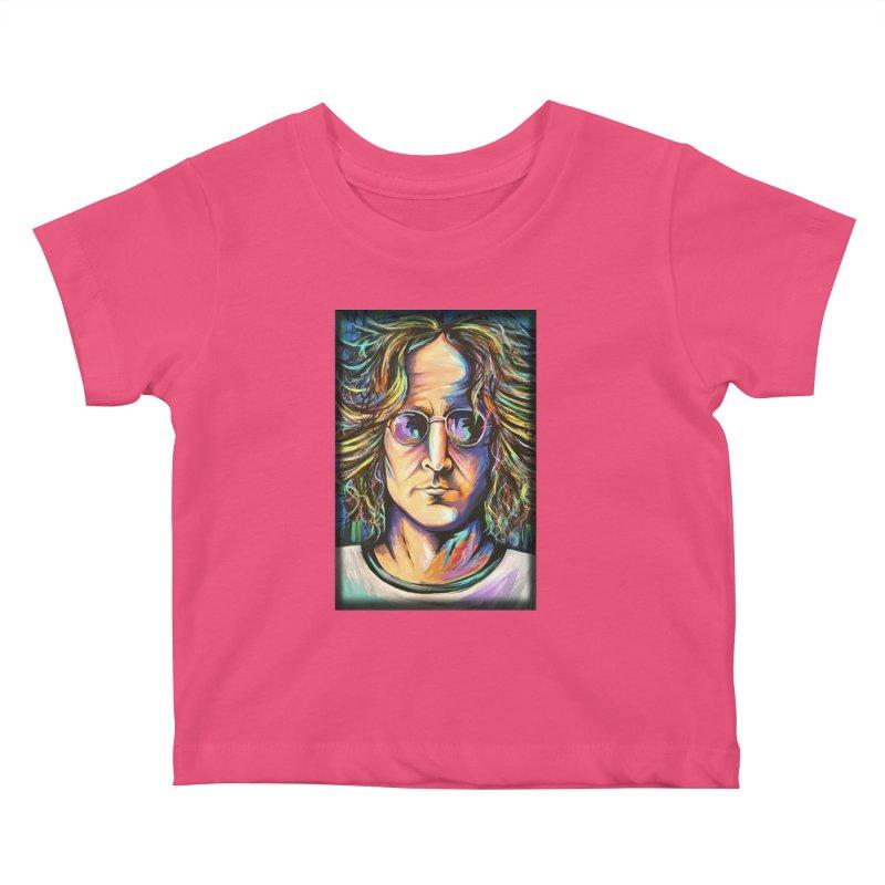 John Lennon Kids Baby T-Shirt by amybelonio's Artist Shop