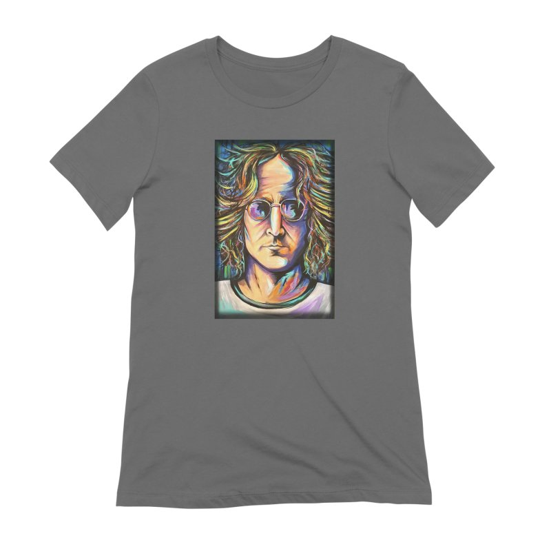 John Lennon Women's T-Shirt by amybelonio's Artist Shop