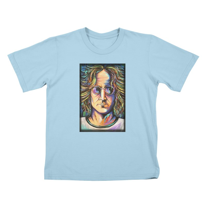 John Lennon Kids T-Shirt by amybelonio's Artist Shop