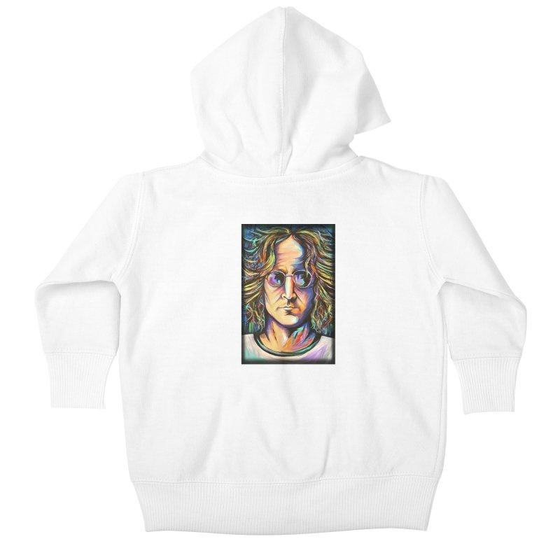 John Lennon Kids Baby Zip-Up Hoody by amybelonio's Artist Shop