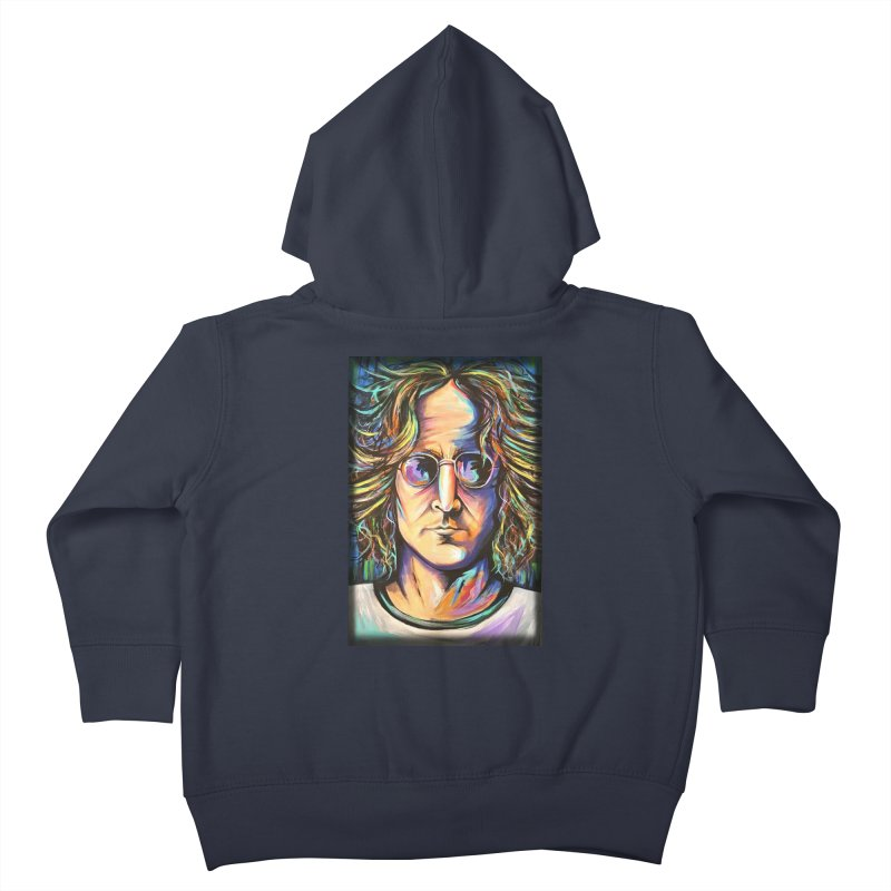 John Lennon Kids Toddler Zip-Up Hoody by amybelonio's Artist Shop