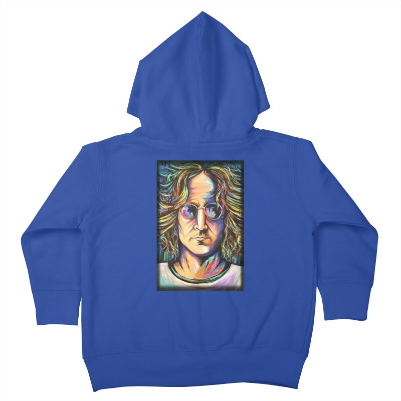 John Lennon Kids Toddler Zip-Up Hoody by amybelonio's Artist Shop
