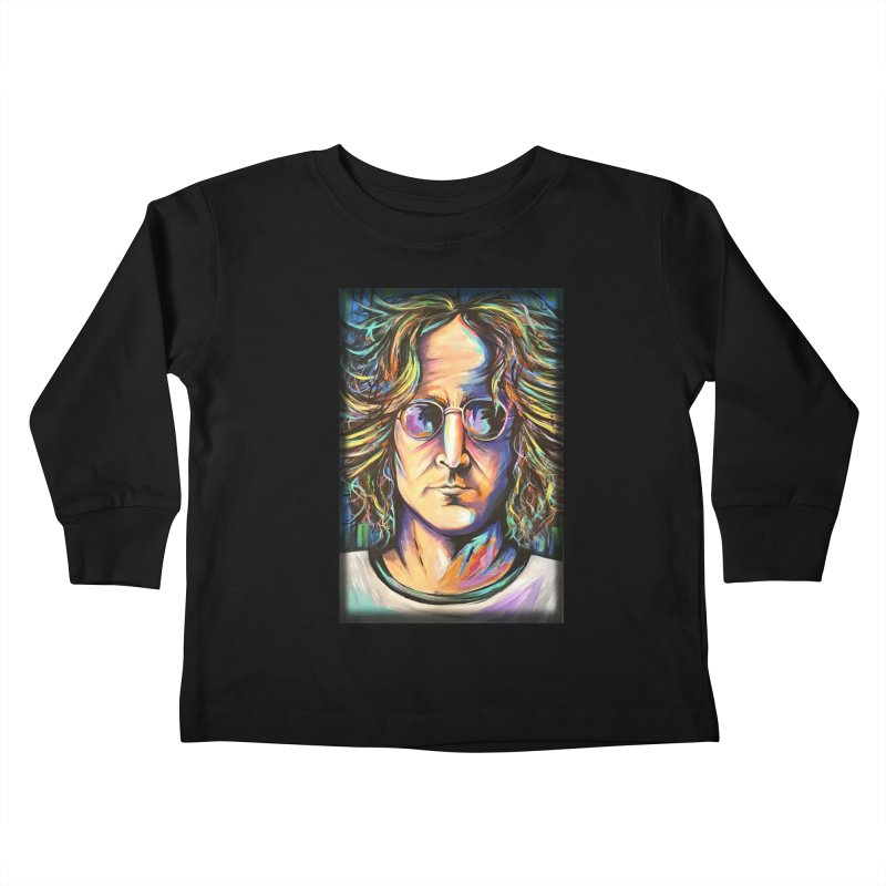 John Lennon Kids Toddler Longsleeve T-Shirt by amybelonio's Artist Shop
