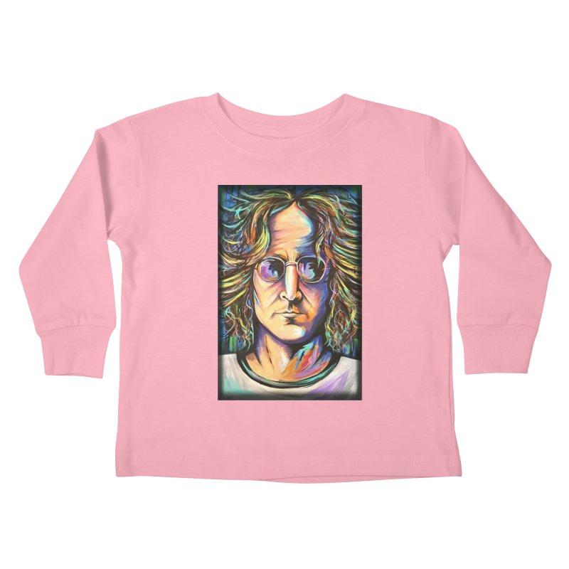 John Lennon Kids Toddler Longsleeve T-Shirt by amybelonio's Artist Shop