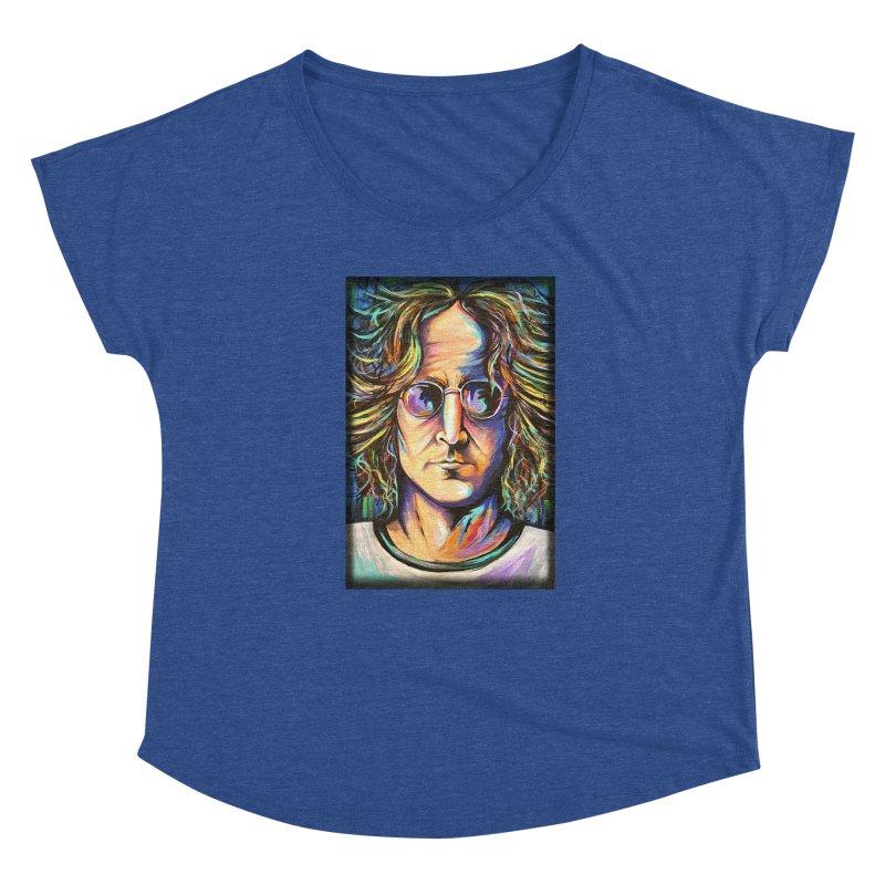 John Lennon Women's Dolman Scoop Neck by amybelonio's Artist Shop