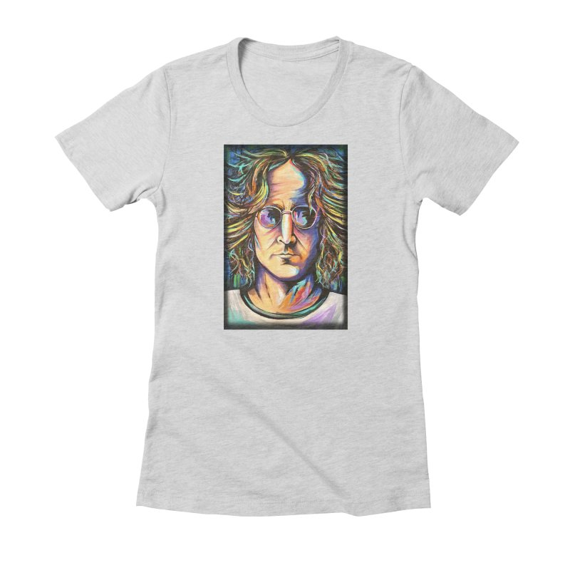 John Lennon Women's Fitted T-Shirt by amybelonio's Artist Shop