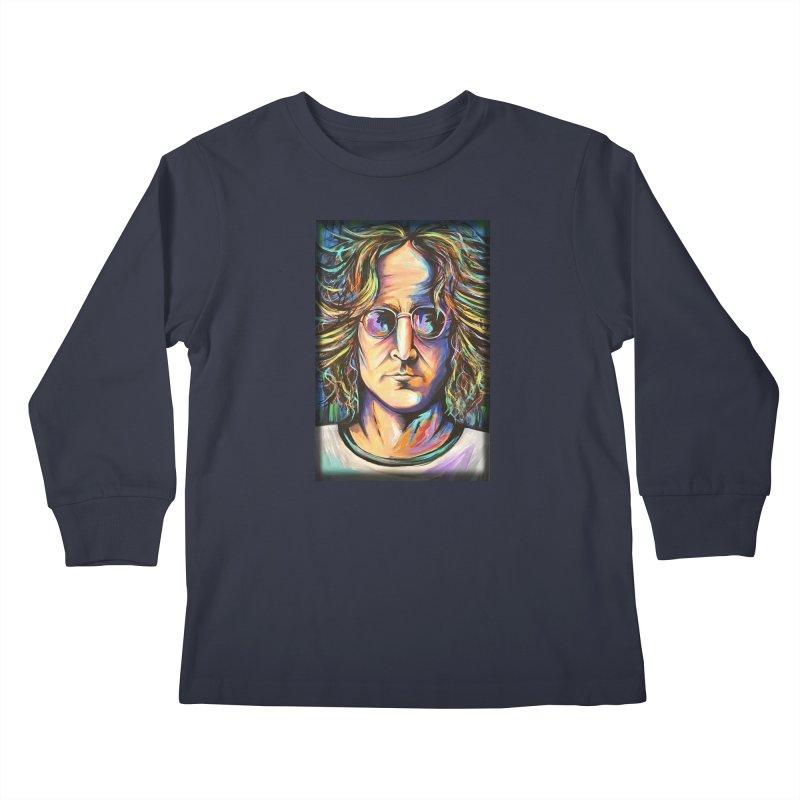 John Lennon Kids Longsleeve T-Shirt by amybelonio's Artist Shop
