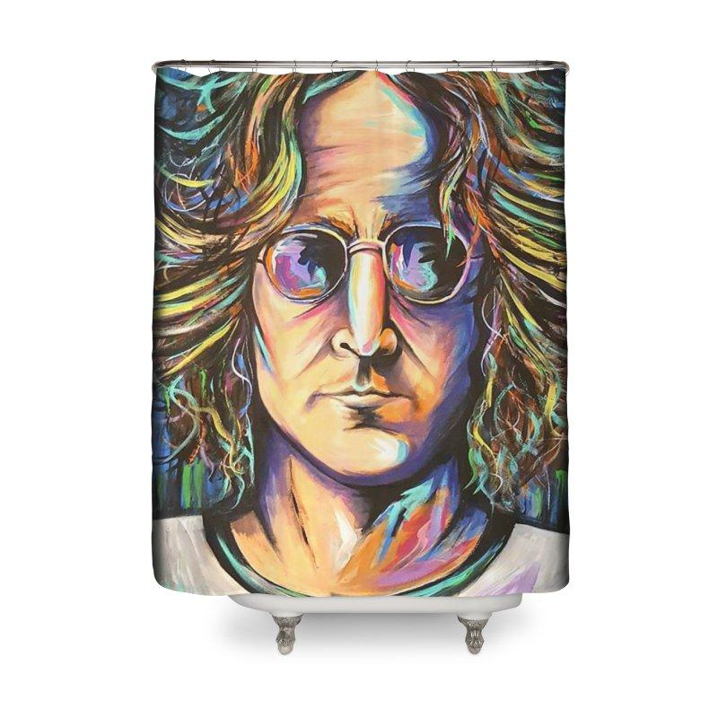 John Lennon Home Shower Curtain by amybelonio's Artist Shop