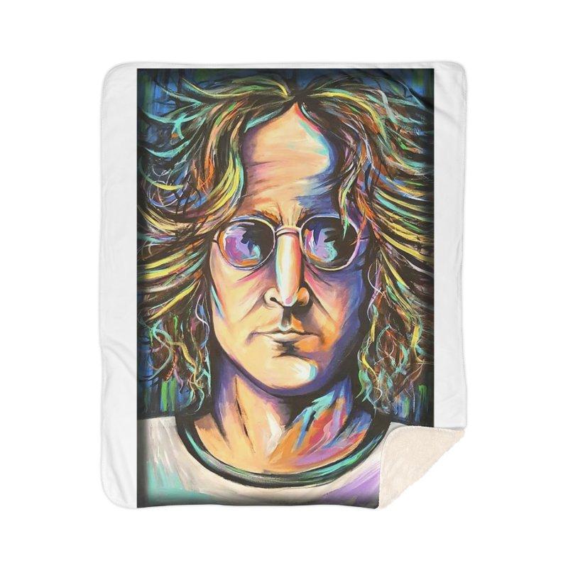 John Lennon Home Blanket by amybelonio's Artist Shop