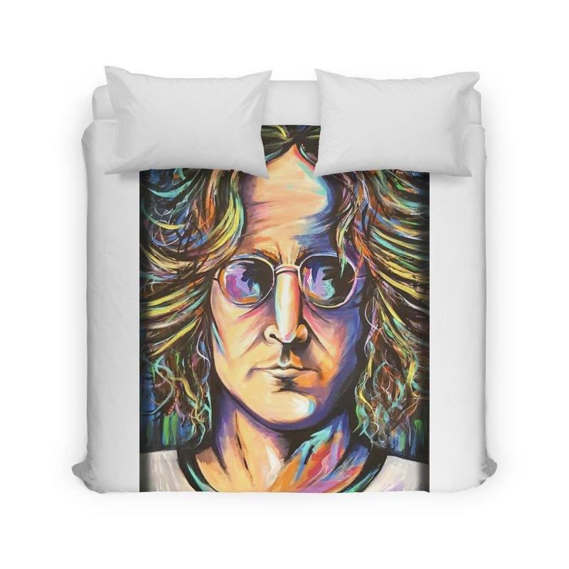 John Lennon Home Duvet by amybelonio's Artist Shop