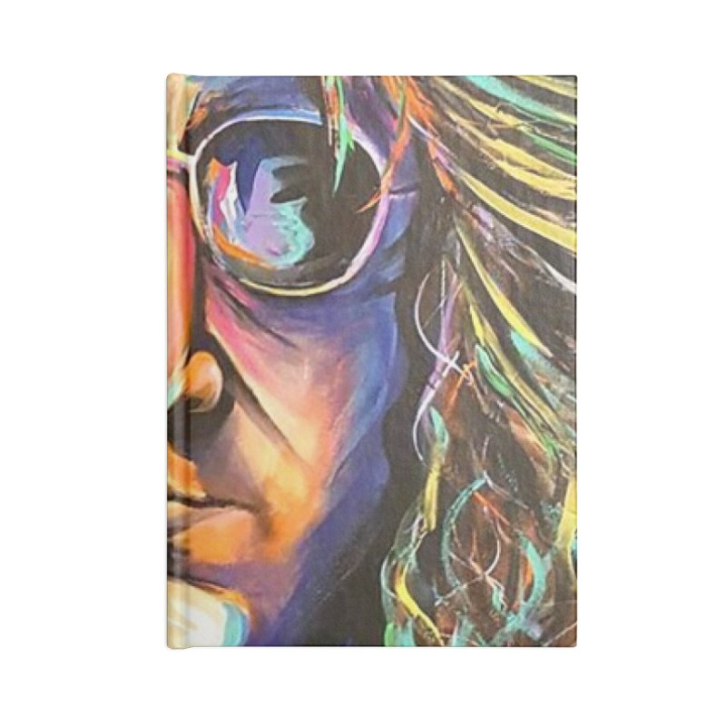 John Lennon Accessories Lined Journal Notebook by amybelonio's Artist Shop